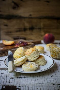honeysuckle biscuits & sea salt peach butter by Beth Kirby | {local milk}