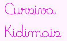 Kidi Atividades: Linda fonte cursiva