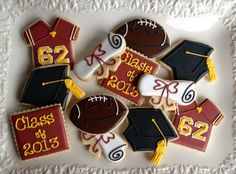 Graduation Sugar Cookie Collection by NotBettyCookies on Etsy, $38.00