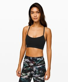 Lululemon Flow Y Bra Nulu Light Support Social Media Engagement, Yoga Bra, Women's Sports Bras, Workout, Soft Fabrics, New Look, Lululemon Athletica, Flow, Gym Shorts Womens