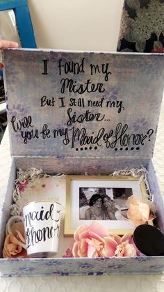 Maid of Honor Proposal Ideas! She loved it and said YES! Maid of Honor Proposal Ideas! She loved it and said YES! The post Maid of Honor Proposal Ideas! She loved it and said YES! appeared first on Do It Yourself Fashion. Cute Wedding Ideas, Perfect Wedding, Dream Wedding, Wedding Day, Wedding Stuff, Trendy Wedding, Wedding Bells, Wedding Table, Rustic Wedding