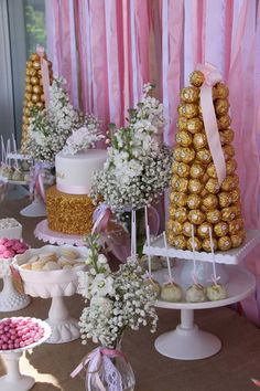 Little Big Company | The Blog: Beautiful Pink and Gold Christening by Memories are Sweet - Lolly Buffet