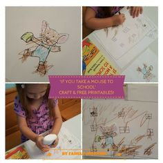 IF YOU TAKE A MOUSE TO SCHOOL CRAFT & FREE PRINTABLE! A cute craft to go along with the book 'If You Take A Mouse To School'...with free printables!