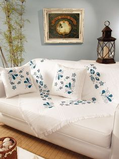 Brilliant Cross Stitch Embroidery Tips Ideas. Mesmerizing Cross Stitch Embroidery Tips Ideas. Hand Embroidery Videos, Flower Embroidery Designs, Embroidery Patterns Free, Modern Embroidery, Hand Embroidery Patterns, Cross Stitch Embroidery, Bed Cover Design, Cushion Cover Designs, Purple Bedroom Decor