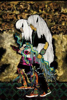 Danza de los Bisontes by Amado Pena Jr. Cultural Background: Pascua Yaqui Tribe of Arizona, USA kK