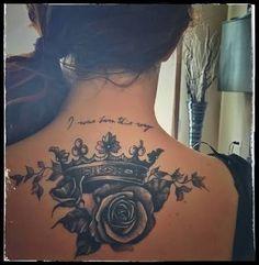 """Résultat de recherche d'images pour """"crown tattoo with rose"""""""