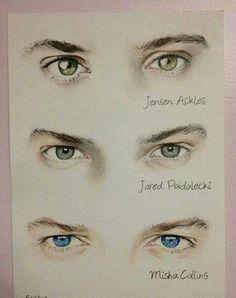 Jensen, Jared, Misha #eyes #FanArt
