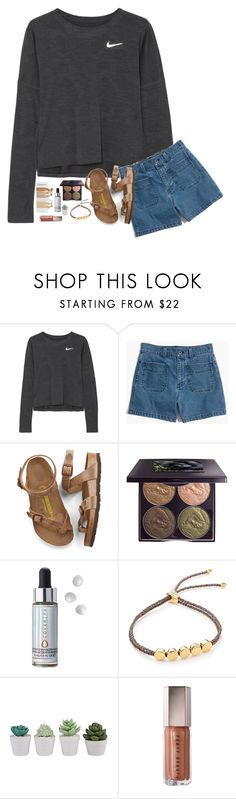 """""""bffs before bfs always"""" by classyandsassyabby ❤ liked on Polyvore featuring NIKE, Madewell, Birkenstock, Chantecaille, Cover FX and Monica Vinader"""
