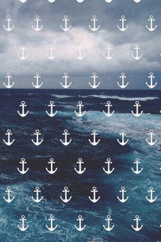 Anchors and Ocean - Nautical iPhone Wallpaper Tumblr Iphone Wallpaper, Hipster Wallpaper, Tumblr Backgrounds, Cute Backgrounds, Phone Backgrounds, Wallpaper Quotes, Cute Wallpapers, Wallpaper Backgrounds, Iphone Wallpapers