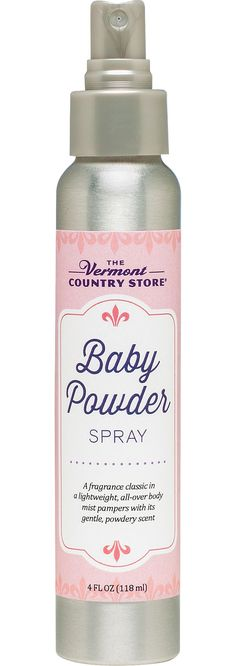 Made with Vermont Baby Powder - Baby Powder Body Spray For That Clean, Baby-Fresh Feeling $14.95