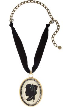 Lanvin Crystal, resin and brass cameo necklace NET-A-PORTER.COM