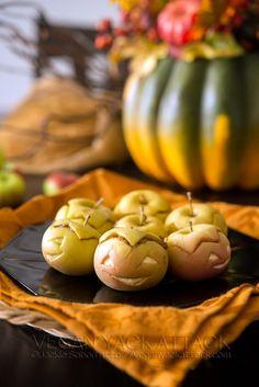 Peanut butter Apple lanterns
