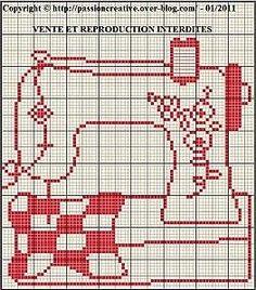 ¡Hola a todos!¡Hola RUMS !Hoy os traigo la funda que le he hecho a mi máquina de coser, la tengo desde hace año y medio, y con las alegrías que me está dando hay que mimarla! Cross Stitch Love, Cross Stitch Pictures, Cross Stitch Charts, Crochet Cross, Filet Crochet, Cross Stitching, Cross Stitch Embroidery, Cross Stitch Silhouette, Broderie Simple