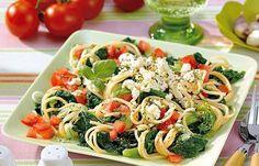 Spaghetti mit Spinat und Schafskäse - Schnelle Diät-Rezepte für jede Gelegenheit