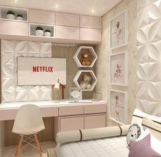 Really inspiring Teen Girl Bedrooms for fun design, reference 6870766856 Kids Bedroom Designs, Home Room Design, Room Ideas Bedroom, Small Room Bedroom, Home Bedroom, Girls Bedroom, Bedroom Decor, Bedrooms, Small Modern Bedroom