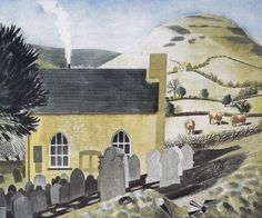 Lord Hereford's Knob & the Chapel at Capel -y-Ffin, 1938