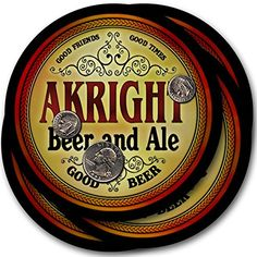 Akright Beer & Ale - 4 pack Drink Coasters ZuWEE https://www.amazon.com/dp/B00PQMZ9CG/ref=cm_sw_r_pi_dp_x_oVQ9xbQH2CT4W