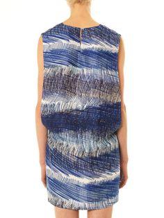 Scribble stripe-print shift dress | Kenzo | MATCHESFASHION.COM UK