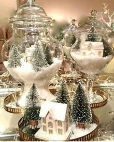 We are very proud to introduce some Elegant Table Centerpiece Ideas For Christmas that will just make your Christmas table standout. Holiday centerpiece decorations are a certain elegant arrangements for your holiday table made of decorative items used i Christmas Table Centerpieces, Centerpiece Decorations, Xmas Decorations, Outdoor Decorations, Christmas Jars, Silver Christmas, Christmas Holidays, Christmas Crafts, Christmas Ideas