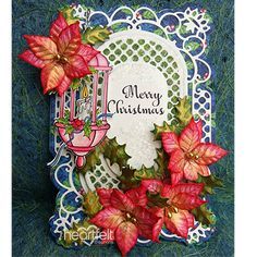 Dovecraft The Magic of Christmas Craft Collection 8pcs Poinsettia Flowers