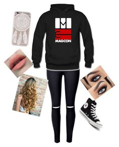 """Who Do U Want To See At Magcon?"" by happy-girls-are-the-prettest ❤ liked on Polyvore featuring WithChic and Converse"