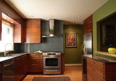 Sapele Cabinets ~ warm contemporary kitchen - contemporary - Kitchen - Portland - bright designlab