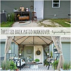 Back Patio Makeover. Wow! Big difference!