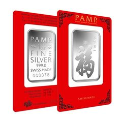 1 oz PAMP Suisse True Happiness Silver Bar (in Assay) | Bullion Exchanges