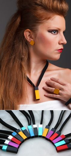 Tomas Holub - minimalist jewelry made of anodized and polished aluminum. Enjoy your own piece of aluminum! Minimalist Jewelry, Jewelry Making, Collection, Jewellery Making, Make Jewelry, Diy Jewelry Making