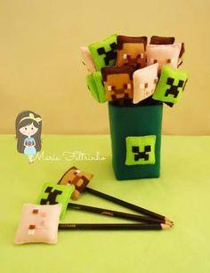 pencil and holder felt minecraft pencil Minecraft Crafts, Minecraft Room, Hama Beads Minecraft, Minecraft Pixel Art, Cool Minecraft, Minecraft Furniture, Minecraft Skins, Minecraft Buildings, Perler Beads