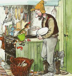Nordic Art, Children's Book Illustration, Whimsical Art, Crazy Cats, Pretty Pictures, Cat Art, Dame, Book Art, Art Gallery