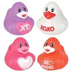 Valentine's Day Love Rubber Duckys - 12 ct 12 per unit Pink and red Size: x These have a hole in the bottom and squeak. Craft Activities For Toddlers, Bath Toys For Toddlers, Toddler Toys, Toys For Girls, Valentine Day Love, Valentines Day Party, Valentine Crafts, Baby Bath Toys, Cute Toys