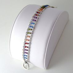 Resistor Ladder Bracelet Rainbow Heirloom by Techcycled on Etsy, check out this person's shop- fun and amazing goodies. Nerd Jewelry, Funky Jewelry, Jewelry Crafts, Jewelry Design, Jewelry Making, Recycled Jewelry, Geek Crafts, Homemade Jewelry, Crystal Bracelets