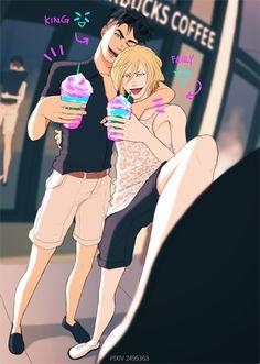 Seeing JJ and Yurio getting along is kinda weird but I love it Manga Anime, Anime Guys, Yurio And Otabek, Yuri On Ice Comic, ユーリ!!! On Ice, Yuri Plisetsky, Fandom, Shounen Ai, Anime Comics