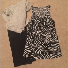 Banana Republic Zebra Print Tank Size Large Very soft fabric, and great condition! Beautiful on its own, or under a sweater or blazer. Banana Republic Tops Tank Tops