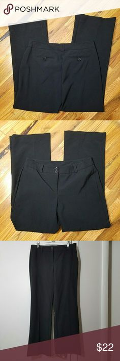 New York & Co Black Dress Pants Excellent used condition. No signs of stains, damages, or wear. Measurements are in the picture. Made of 100% polyester. There is some stretch to the fabric. Slight flare. New York & Company Pants Straight Leg