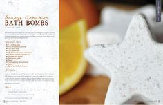 Orange cinnamon bath bombs - Better Shea Butter's recipe featured in Willow and Sage Magazine