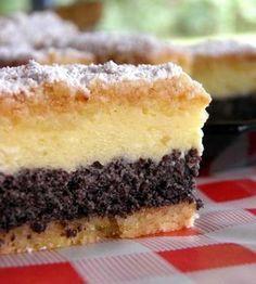 Na prípravu cesta budeme potrebovať: 200 g masla alebo palmarinu, 500 g… Sweet Desserts, Easy Desserts, Sweet Recipes, Slovak Recipes, Czech Recipes, Baking Recipes, Cookie Recipes, Kolaci I Torte, Cake Bars