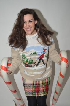 The sweater I made my husband won the Ugly Sweater contest. LET ...