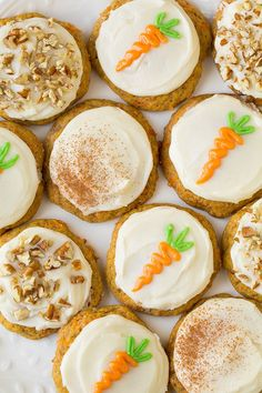 Pin for Later: Forget Peeps and Make These Adorable Carrot Cake Cookies Instead