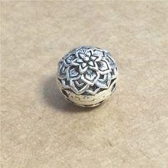 2 Sterling Silver Blossom Guru Beads 3 Holes от SterlingSilverBox