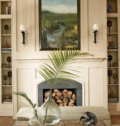 Key Interiors by Shinay: Coastal Living Room Design Ideas Coastal Living, Coastal Decor, Coastal Style, Fireplace Mantels, Fireplaces, Mantles, Fireplace Ideas, Beautiful Interiors, Beautiful Homes