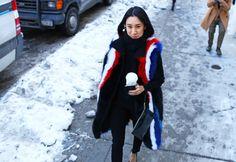 Rebecca Minkoff vest, Proenza Schouler top, Levi's jeans, Cole Haan bag