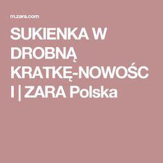 SUKIENKA W DROBNĄ KRATKĘ-NOWOŚCI | ZARA Polska