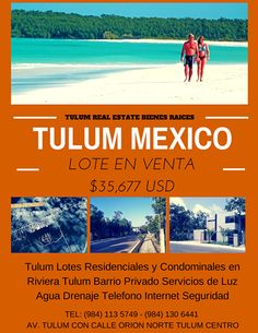 Tulum Lotes en Venta en Riviera Tulum Desarrollo Privado excelente zona, entrega inmediata. Todos los servicios.