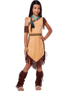Girl's Native American Beauty Costume! See more #costume ideas for Halloween and more at CostumeSuperCenter.com