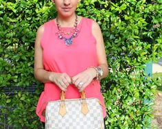 Stella and Dot Pink accessories with my Pink Peplum|Pretty In Her Pearls