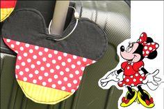 DIY Minnie Mouse Luggage Tag #RoadTrips #RoadTrip