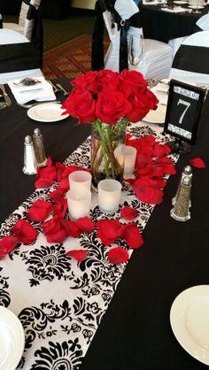 Red rose elegance Blush Custom Weddings