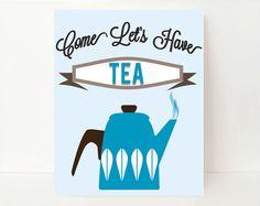 Tea Typography Print